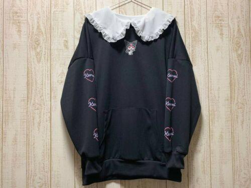 Sanrio Kuromi Collar Sweatshirt Black Size M Kawaii Brand New