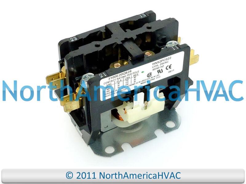 Carrier Bryant Contactor Relay 2P HN51KC100 HN52KC025