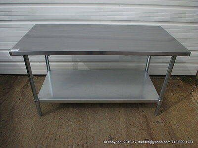 New Stainless Steel Work Prep Table 60 X 30 Nsf