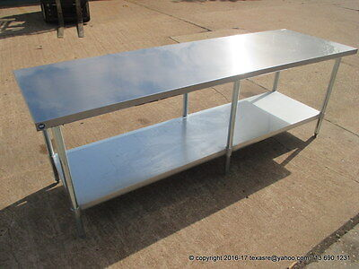 New Stainless Steel Work Prep Table 96 X 30 Nsf