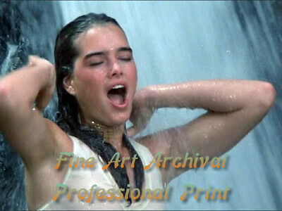 "BROOKE SHIELDS ""Sahara"" 1984 SEE THRU Wet Shirt - PRO ARCHIVAL Photo (8.5x11)"