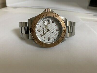 Invicta Men's 12837 Pro Diver Automatic White Dial Stainless Steel Watch RARE