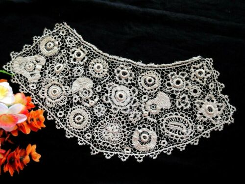 LARGE Antique Handmade Irish Crochet Lace Bodice Overlay Early 1800s Collector!