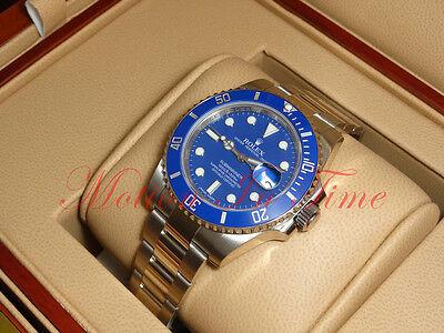 Rolex Submariner Ceramic 18kt White Gold 40mm Blue Dial & Bezel Oyster 116619