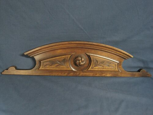 Nice Vintage Carved Solid Wood Walnut Pediment