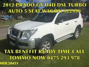 2012 TOYOTA PRADO GX (4x4) KDJ150R 11 UPGRADE WAGON ( AUTO ) Bayswater Bayswater Area Preview