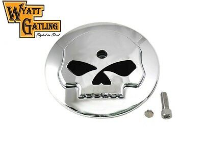 Skull Chrome Air Cleaner Cover Flhx Street Glide Road King Vtwin Softail Harley