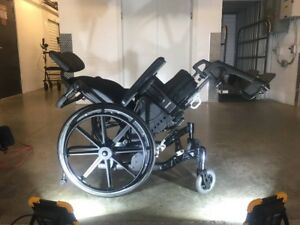 "16,18,20,22""Wx16,18,20""Dx14-20""H TILT WHEELCHAIR FUZE T50 AS NEW"