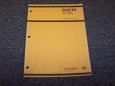 Case Davis Maxi-sneaker Vibratory Plow Original Factory Parts Catalog Manual