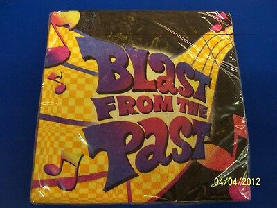 Blast From The Past Theme (Blast from the Past 60's 70's Retro Music Notes Theme Party Luncheon)
