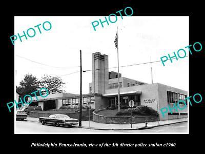 OLD HISTORIC PHOTO OF PHILADELPHIA PENNSYLVANIA THE 5th POLICE STATION c1960