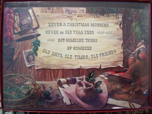 LEANIN TREE CHRISTMAS CARD SET COWBOY VERSE & SCENE 10PK BUY IT NOW IN STORE