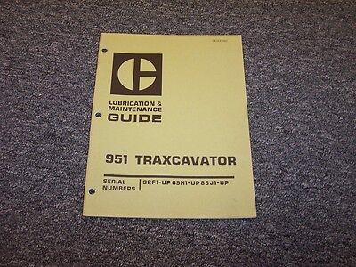 Cat Caterpillar 951 Traxcavator Crawler Loader Owner Operator Maintenance Manual
