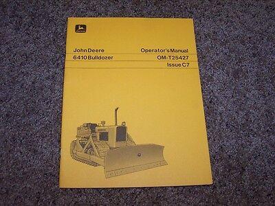 John Deere 6410 Bulldozer Dozer Operator Owner User Guide Manual Om T25427