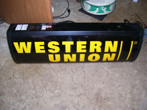 Western Union electric Lighted Sign / Double Sided