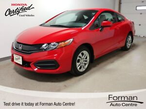 2014 Honda Civic LX - Like New! Htd. Seats | Bluetooth | Coupe