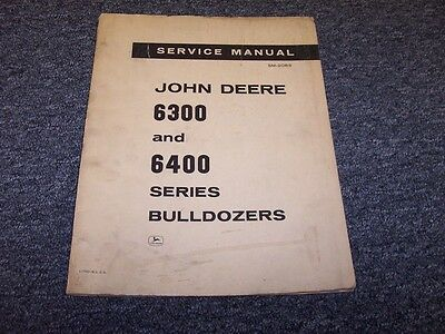 John Deere 6400 6405 6410 Bulldozer Dozer Shop Service Repair Manual Book Sm2083