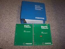 2001 Mazda Tribute Shop Service Repair Manual Set + Wiring ...