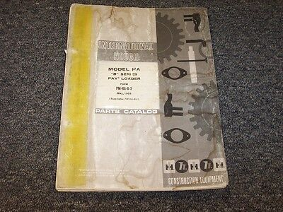 Ih Hough International Harvester Ha-b Pay Loader Parts Catalog Manual
