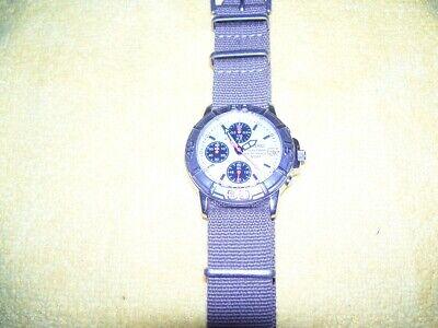 Seiko V657-8060 PANDA chronograph men's watch / Date / 50m WR / RARE DIAL..!