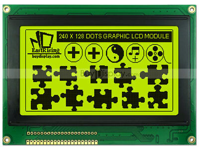 240x128 Graphic Lcd Module Displayra6963t6963 Controlleroptional Touch Panel