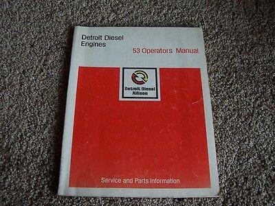 Detroit Diesel 53 Series Engine Owner Operator Manual 2 3 4 6 Cyl Inline 8 12v