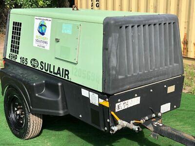 Serviced 2011 Sullair 185dpq Jd Portable Diesel Air Compressor S 201104270118