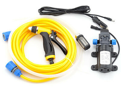 12V High Pressure Water Pump Trigger Spray Gun Wash Kit Car Caravan Yacht Garden