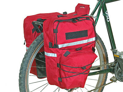 Bushwhacker Cimmaron Red Bike Pannier Bicycle Rack Cycling Cargo Bag Rear Pack