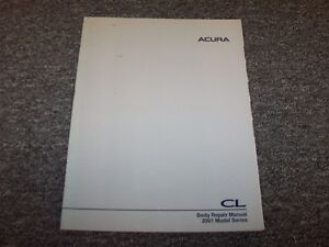 2001 Acura 32 CL Coupe Workshop Shop Service Body Repair Manual Type S 32L