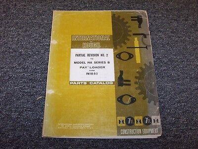 International Harvester Ih Ha-b Wheel Pay Loader Original Parts Catalog Manual