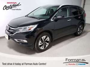 2015 Honda CR-V Touring|Certified|Navi|Htd Seats|Camera|Local
