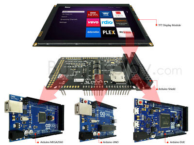 7inch 1024x600 Tft Capacitive Touch Screen Shield For Arduino Duemega2560uno