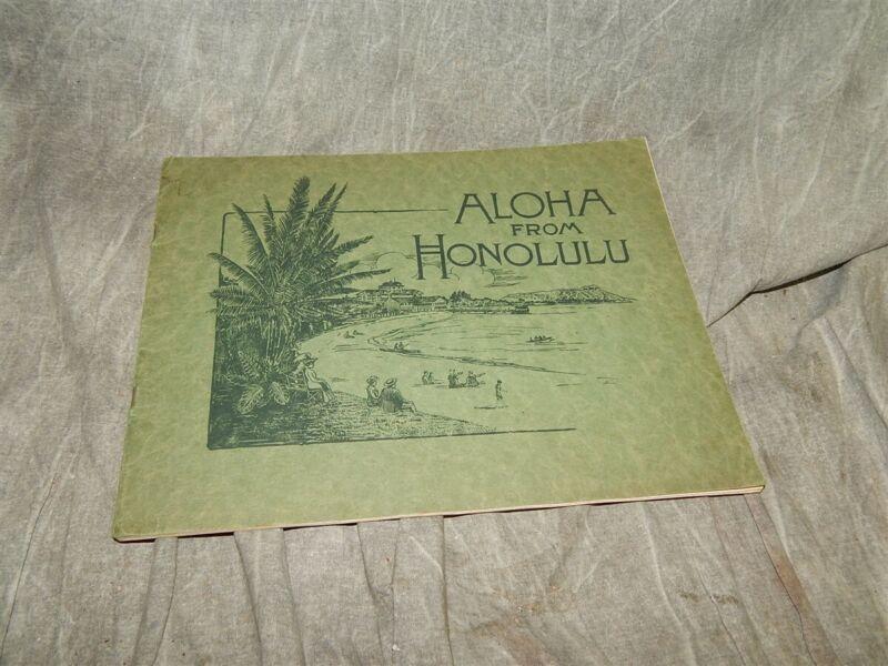 1915 ORIGINAL Aloha from Honolulu Photo Book