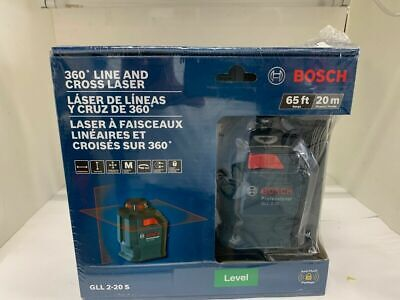 NEW BOSCH GLL 2-20 S  360 LINE AND CROSS LASER(MS3006200)