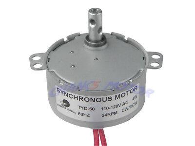 Synchronous Motor Tyd-50 110v Ac 24rpm Cw Ccw 4w Torque 1.2kg.cm Small Motor