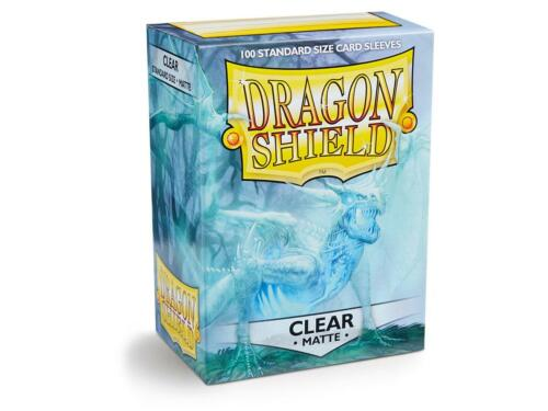 Matte Clear 100 Ct Dragon Shield Sleeves Standard Size Free Shipping! 10% Off 2+