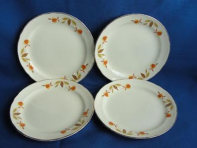 Jewel Tea, Autumn Leaf, Hall China, B&B Plates Set of 4