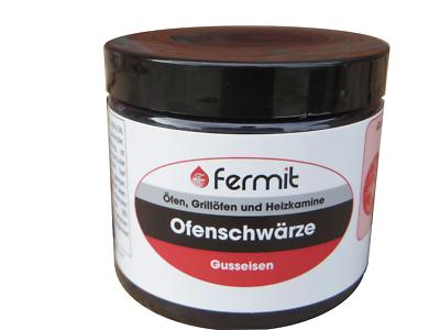 Ofenschwärze 220 ml Ofenpaste von Fermit für Ofen Gartengrill Kamin Gusseisen