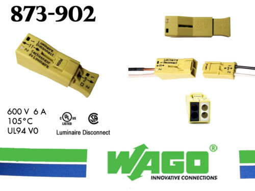 (30) WAGO 873-902 LUMI-Nuts - PUSHWIRE Connector for Luminaire Disconnect