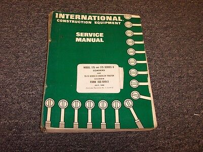 International Dresser Td15b Crawler Tractor Chassis Shop Service Repair Manual