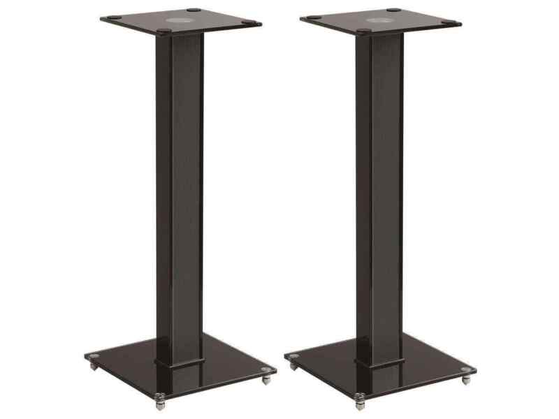 Monoprice Elements Speaker Stand - 28 Inch (Pair) With Cable Management