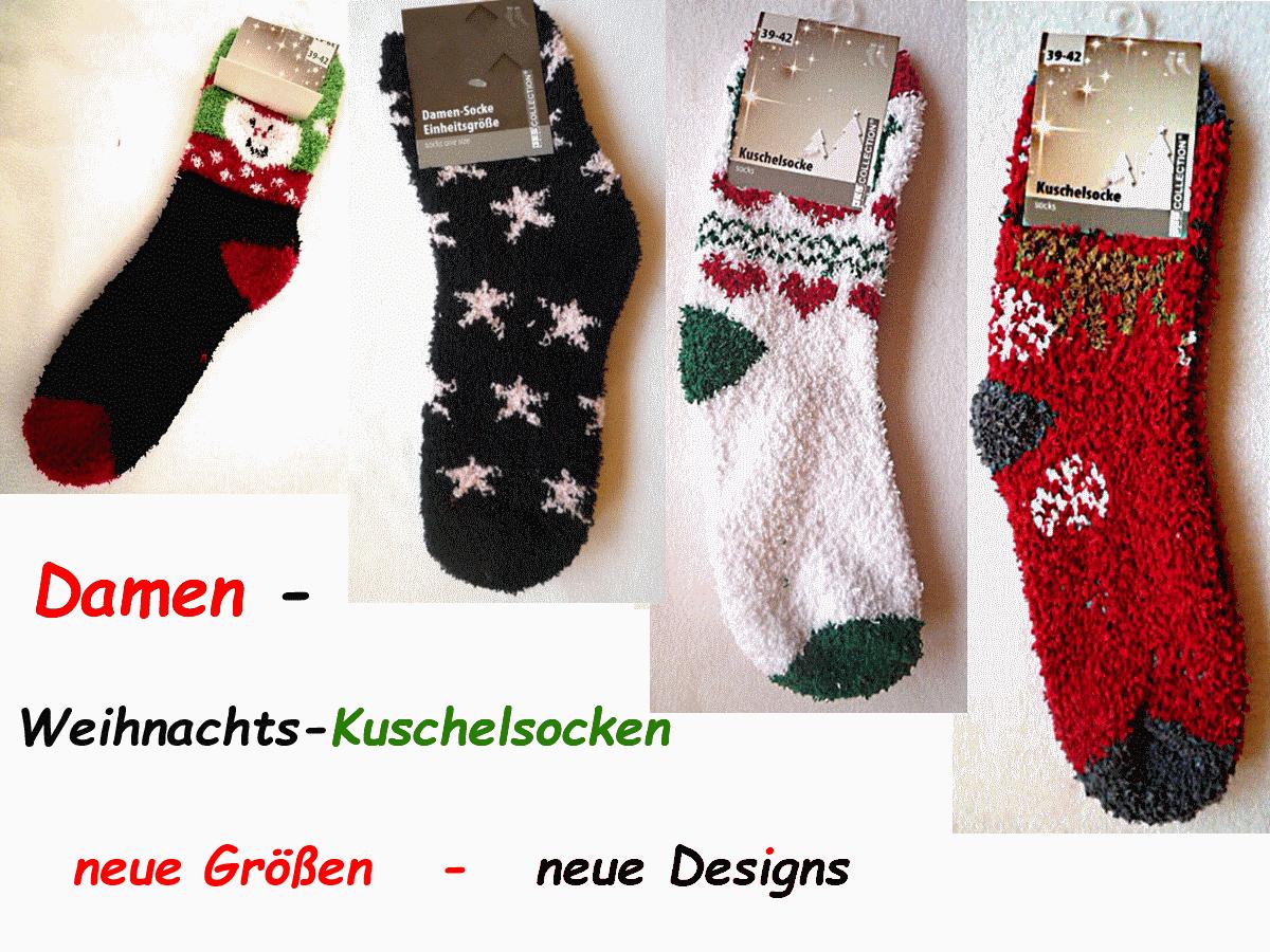 Damensocken  Kuschelsocken  Weihnachtssocken - basteljulchen