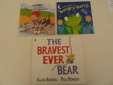 Various Young Childrens Picture Books x 3. $9 for set.