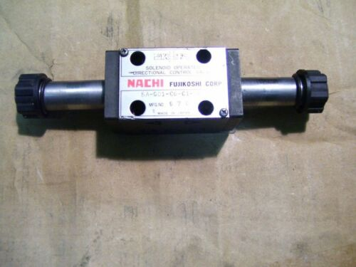 NACHI SA-G01-C6-C1-20 SIZE 01 SOLENOID OPERATED DIRECTIONAL CONTROL VALVE P2729
