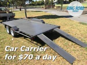 Big Flat Car Trailer for Rent - Hire for $70 - (487cm x 197cm)