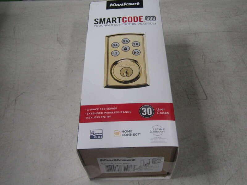 Kwikset SmartCode 888 Touchpad Electronic Deadbolt Door Lock 98880-006