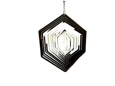 Extra Large Hanging Stainless Steel Garden Wind Spinner Sun Catcher - Hexagon