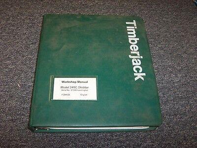 Timberjack 240c Cable Skidder Workshop Shop Service Repair Manual Book F284930