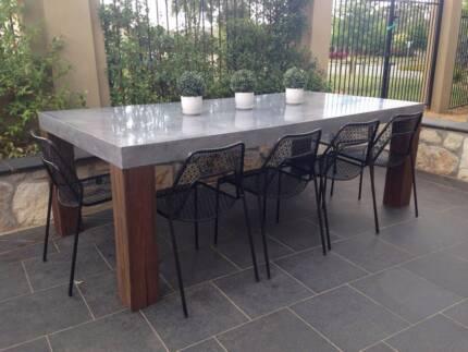 Concrete Dining Table   10 Seater | Dining Tables | Gumtree Australia  Brimbank Area   Deer Park | 1135548240